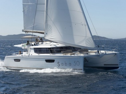 Saba 50 Catamaran Charter Greece